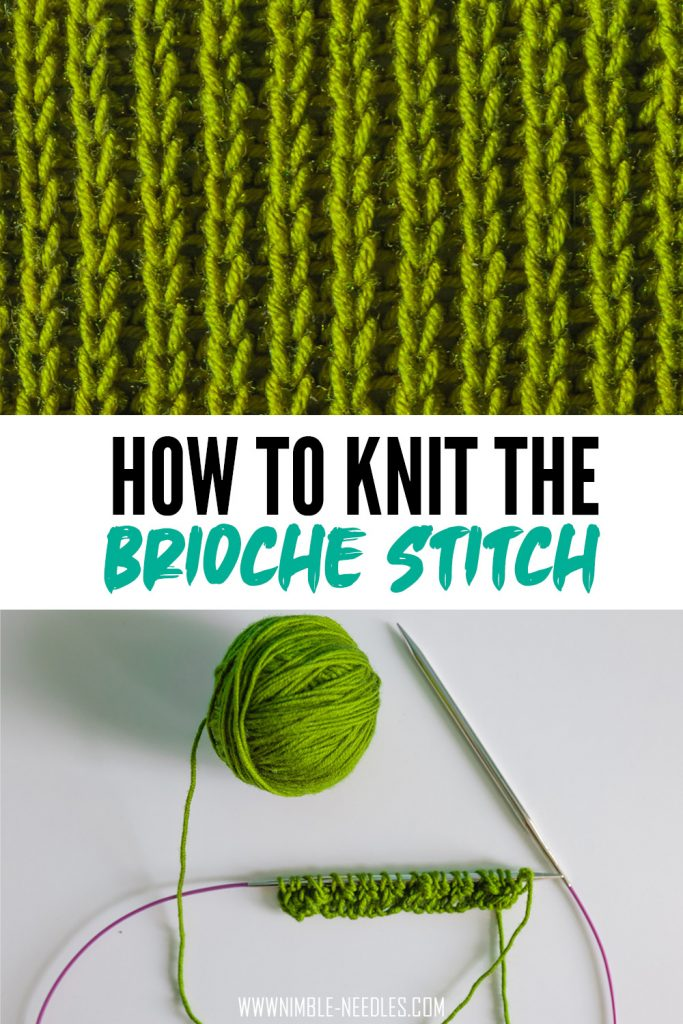 How to knit the brioche stitch