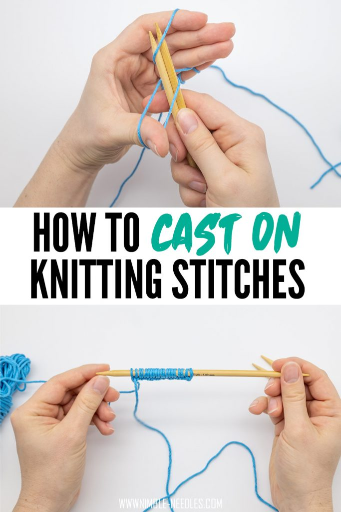 How to cast on knitting stitches for beginners