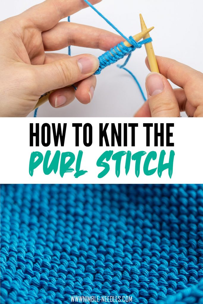 How to knit the purl stitch for beginners