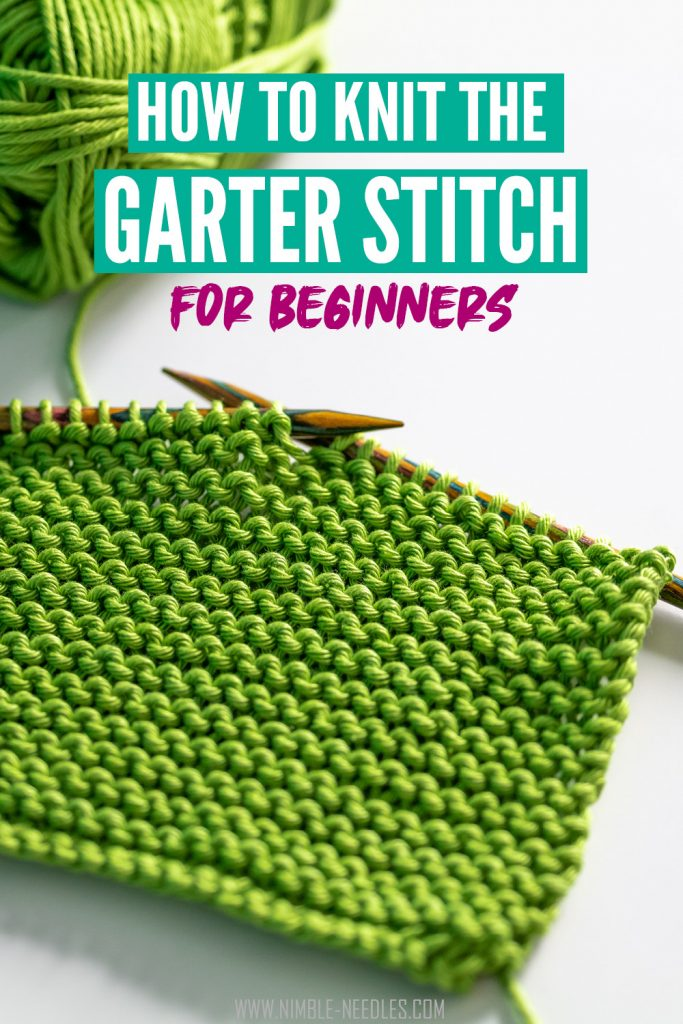How to knit the garter stitch for beginners - step by step tutorial