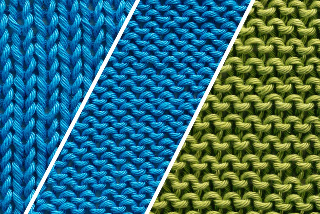 Comparing the stockinette stitch vs the garter stitch
