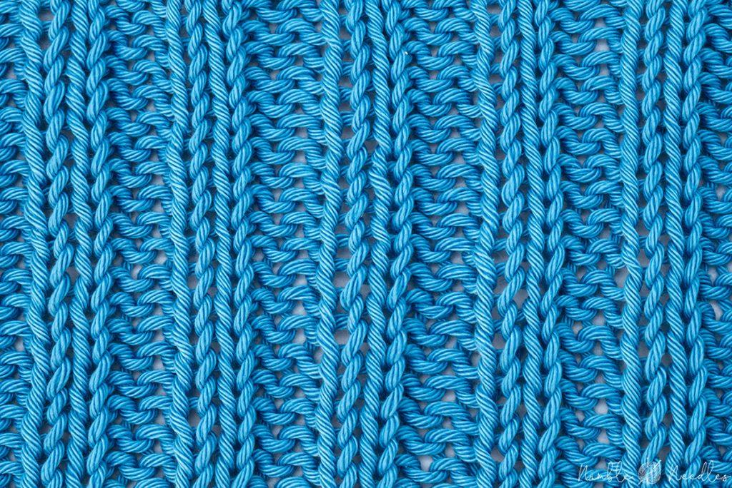 the 2x2 rib stitch pattern