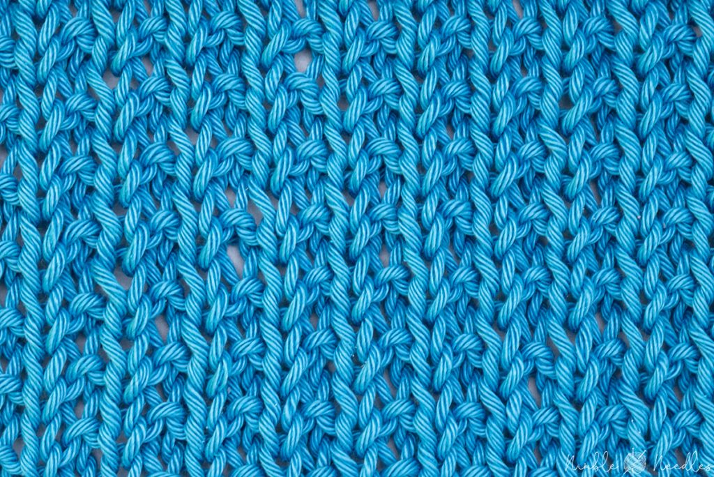 the right side of the broken rib stitch knitting pattern