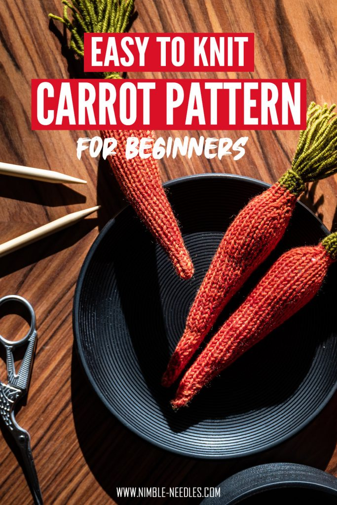 An easy carrot knitting pattern for beginners to download pdf