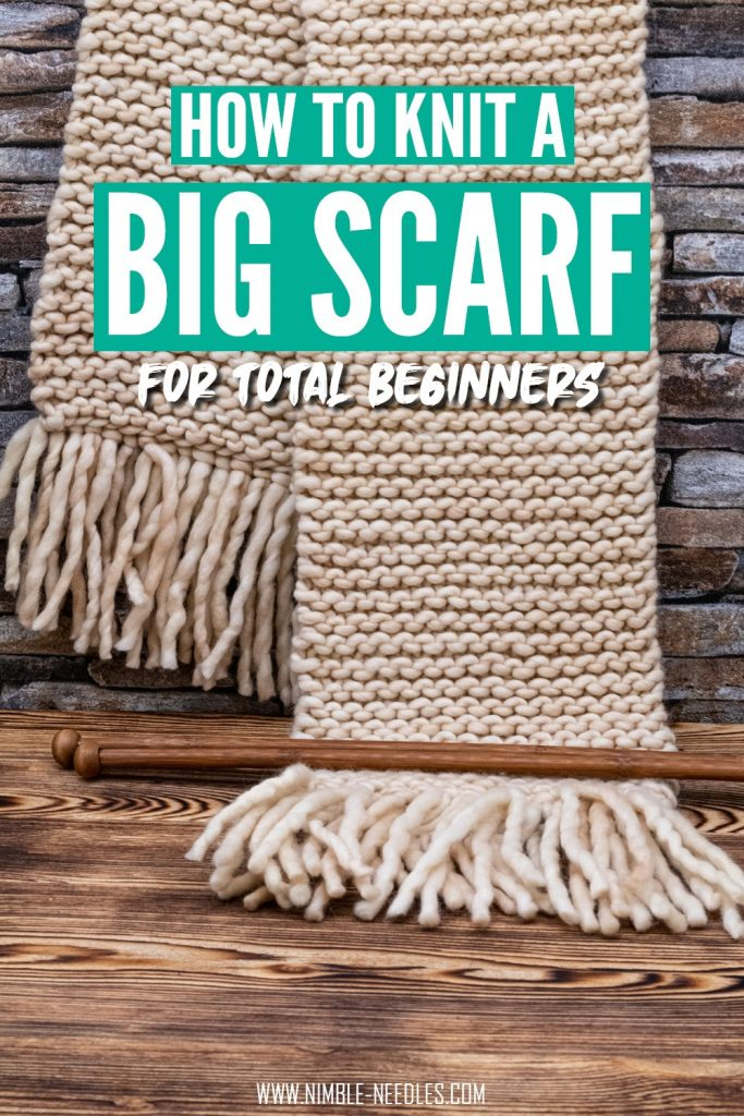 how to knit a scarf for beginners - step by step tutorial