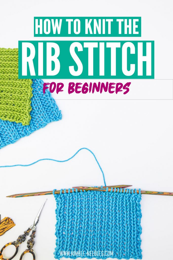Rib stitch knitting for beginnes. Everything you need to know