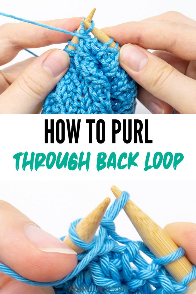 How to knit a purl through back loop stitch