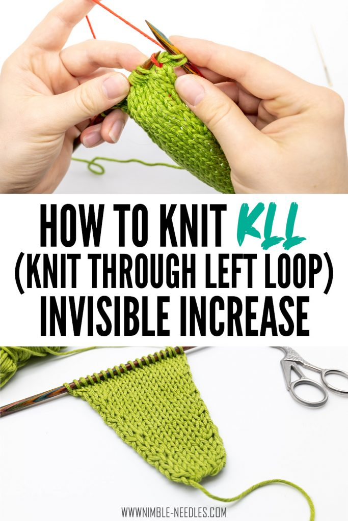 How to knit the KLL knitting increase