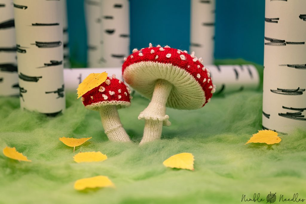 A fly agaric knitting pattern