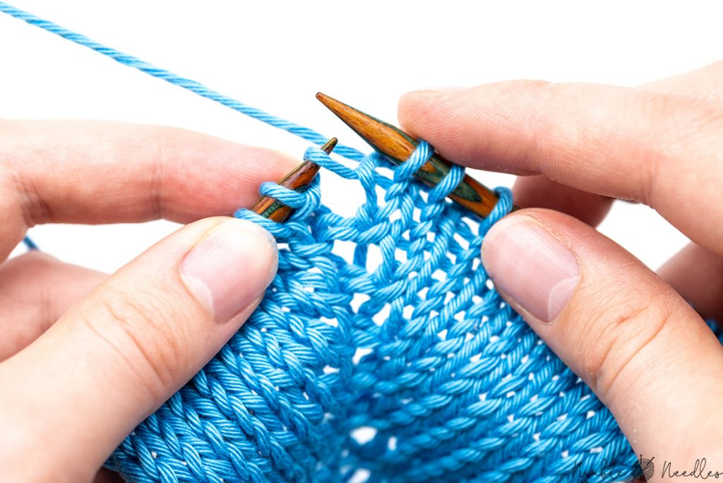 Make on left with a left slanted stitch on the left needle