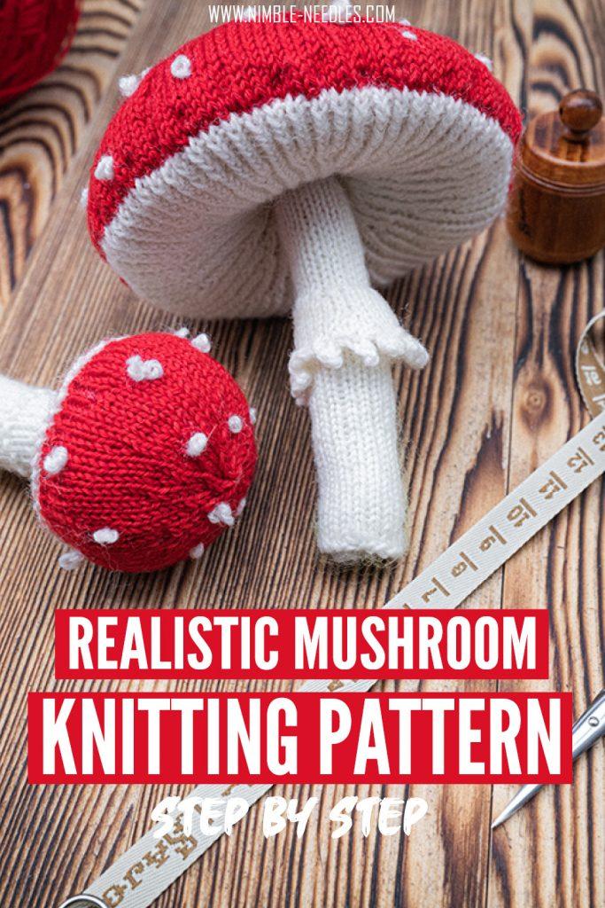 Mushroom knitting pattern: fly agaric