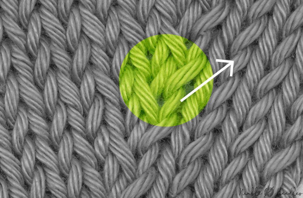 one single kll stitch macro shot to define its lean