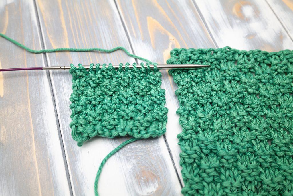The Double Moss Stitch knitting pattern - Nimble Needles