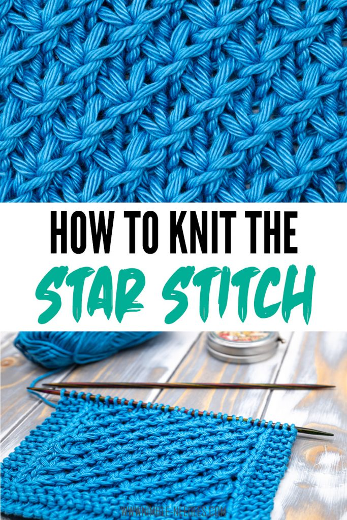 How to knit the star stitch knitting pattern
