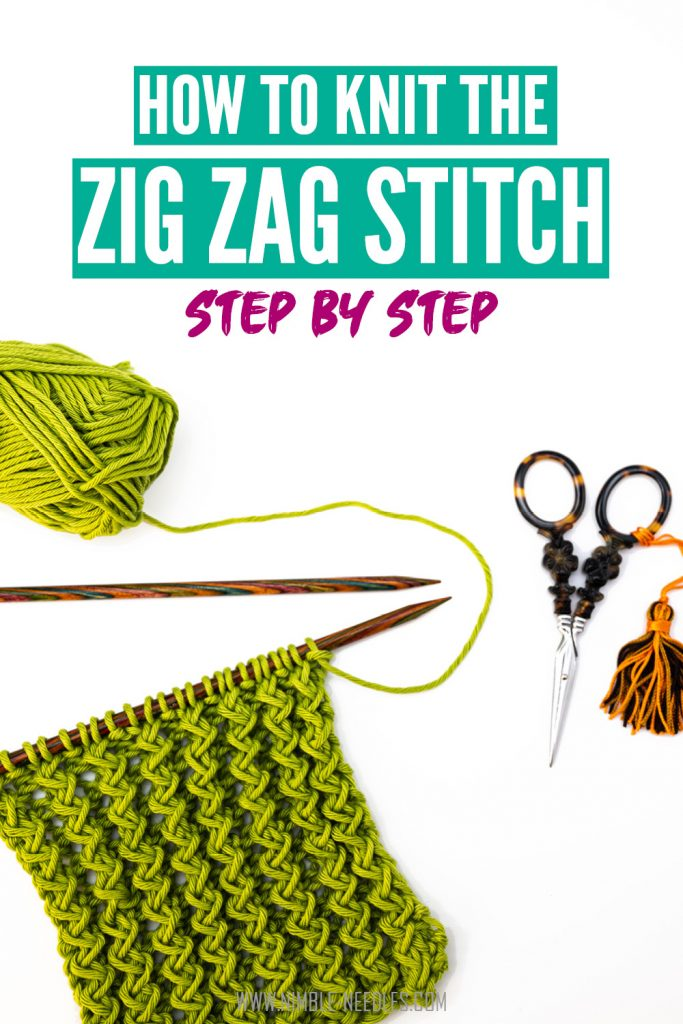 How to knit the zig zag stitch