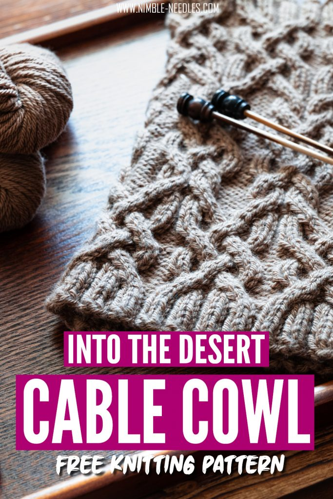 Cable cowl knitting pattern free