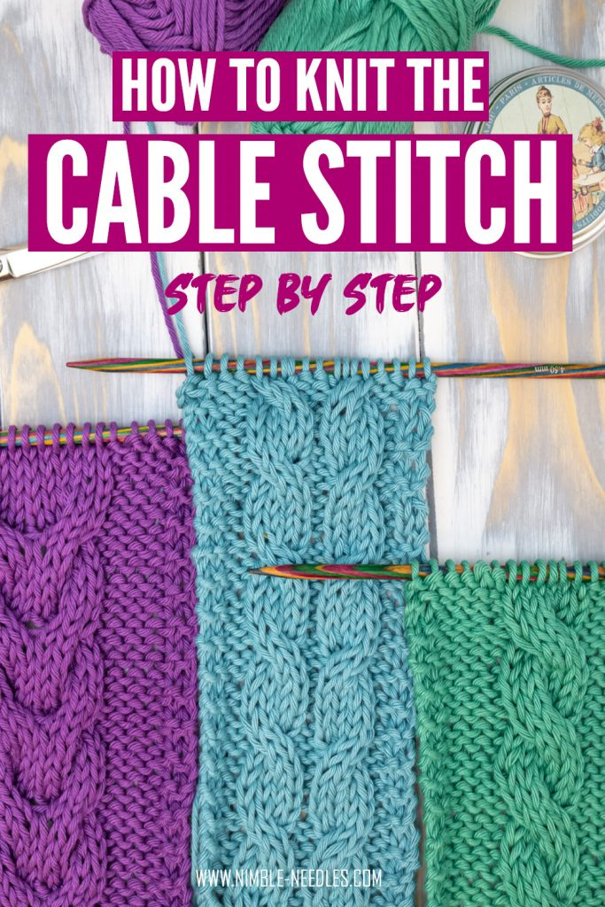 How to knit the cable stitch for beginners