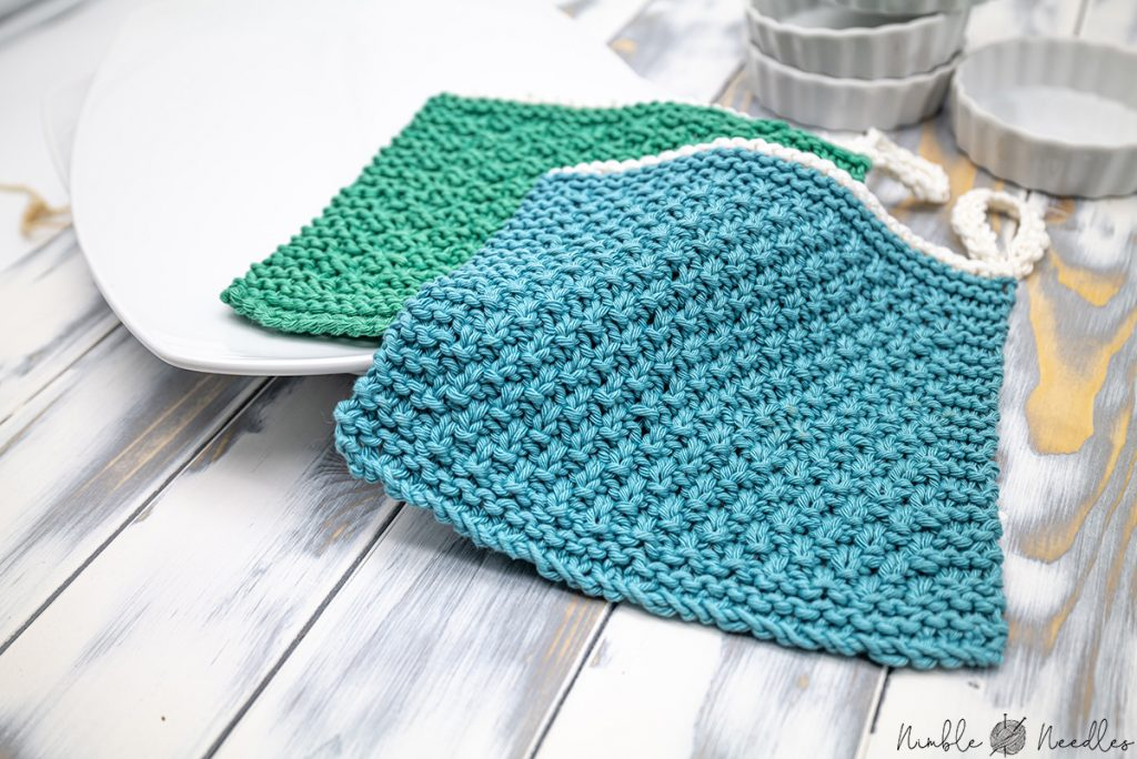 Free knitted dishcloth pattern for beginners
