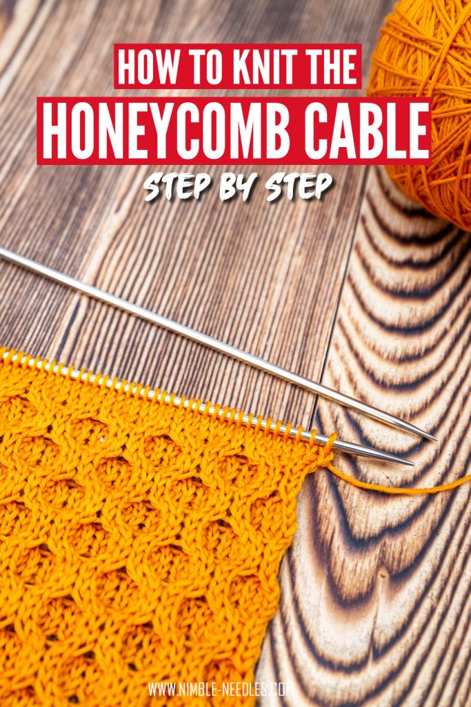 How to knit the honeycomb cable stitch pattern