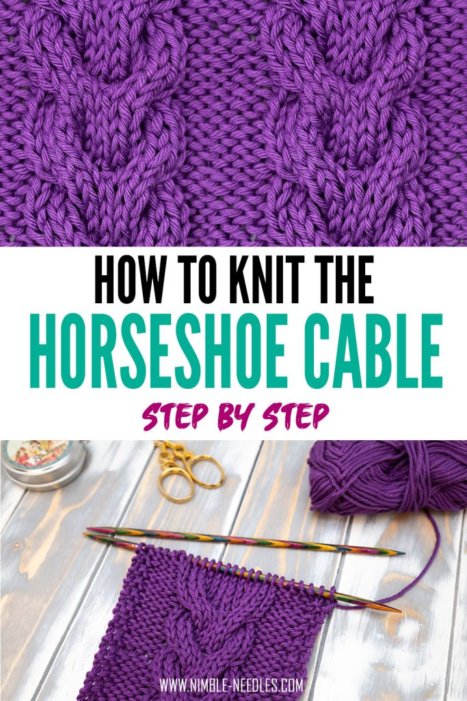 How to knit the horseshoe cable stitch pattern