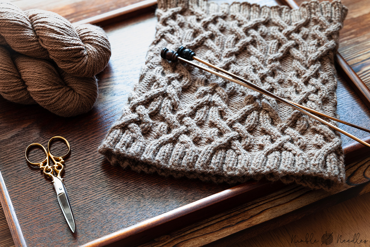 Cable Cowl Knitting Pattern: Into the Desert Free