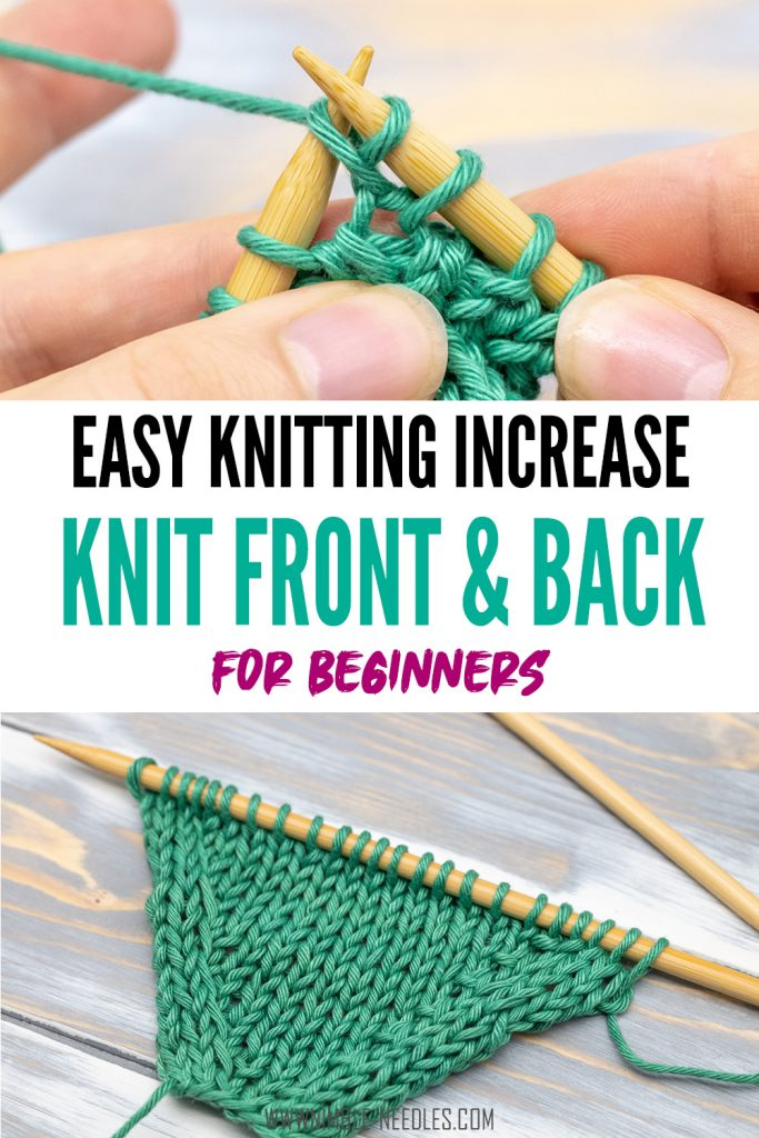 how to knit kfb (knit front back)