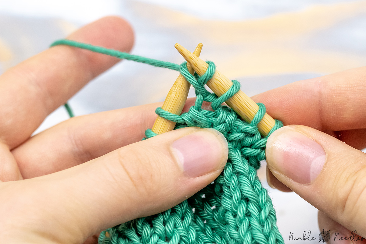 Knit into the same stitch through the back loop