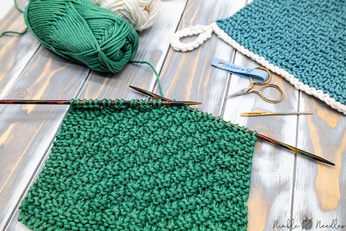 Free & Easy knitted dishcloth pattern for beginners ...