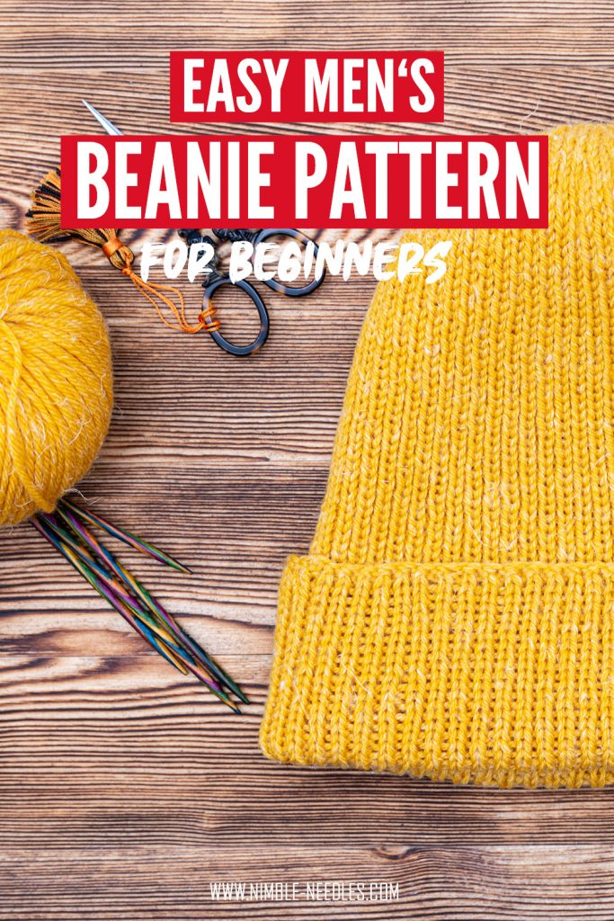 men's beanie knitting pattern for beginners