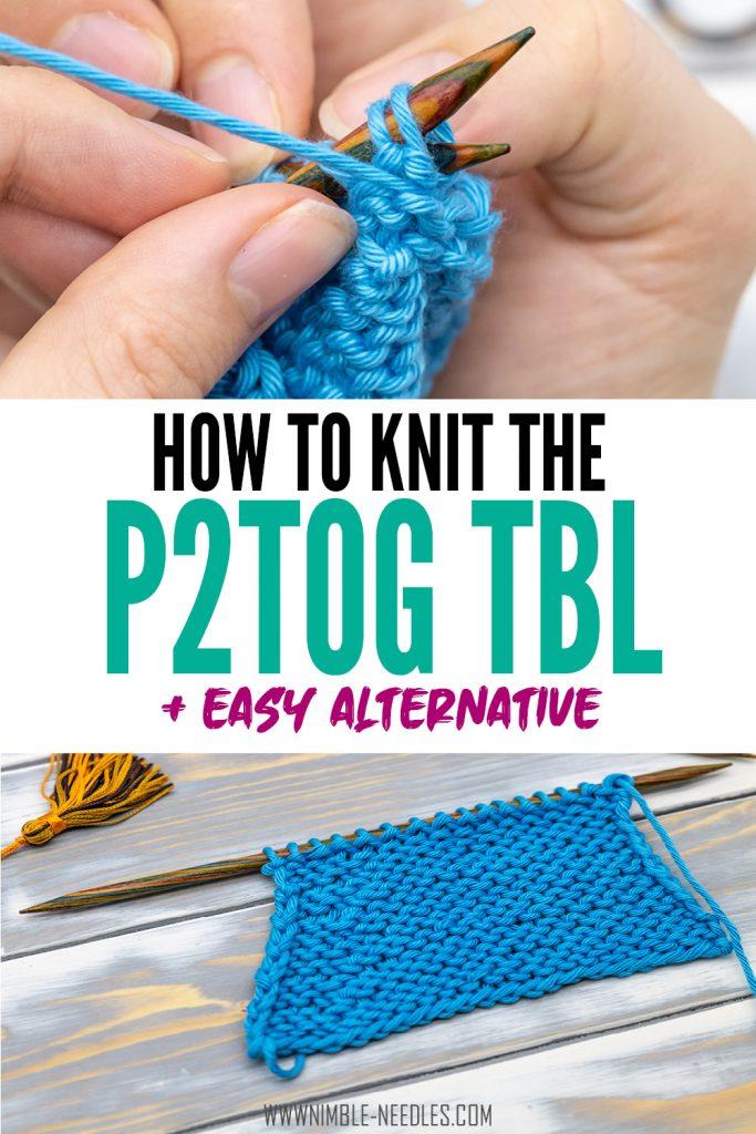 P2tog tbl knitting decrease
