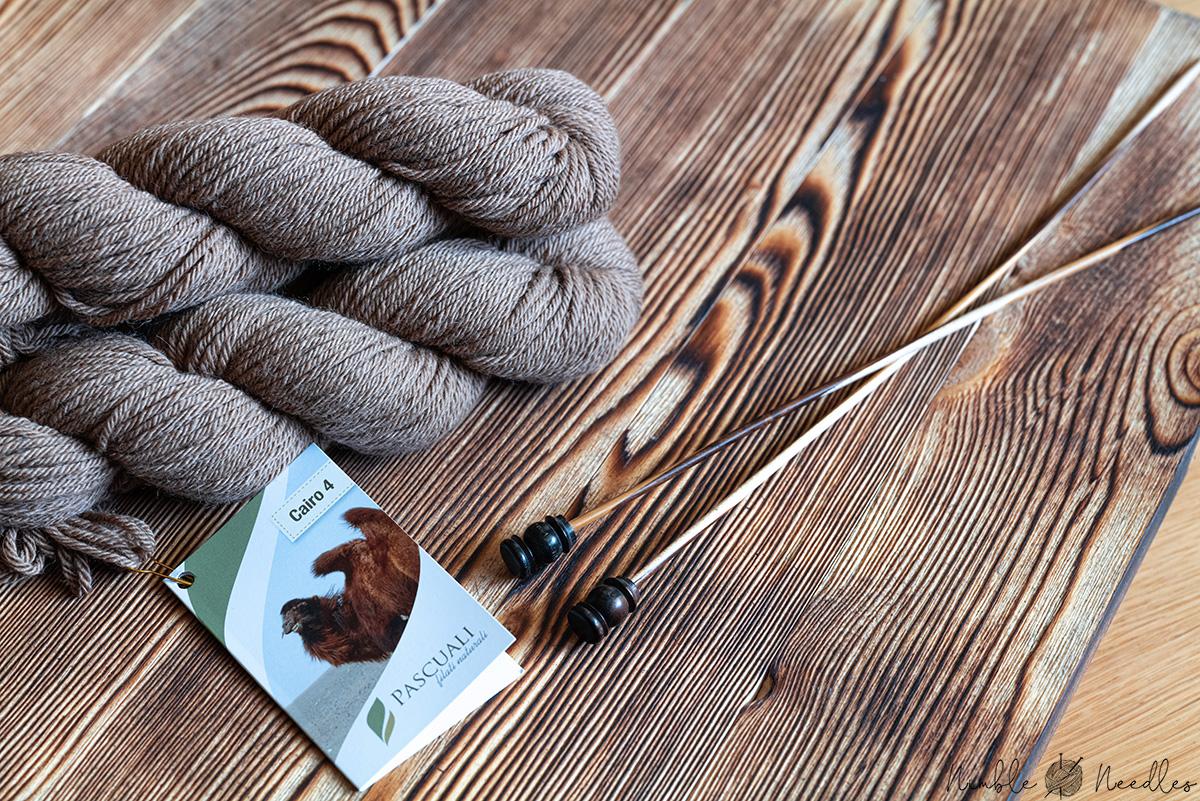A skein of camel hair yarn