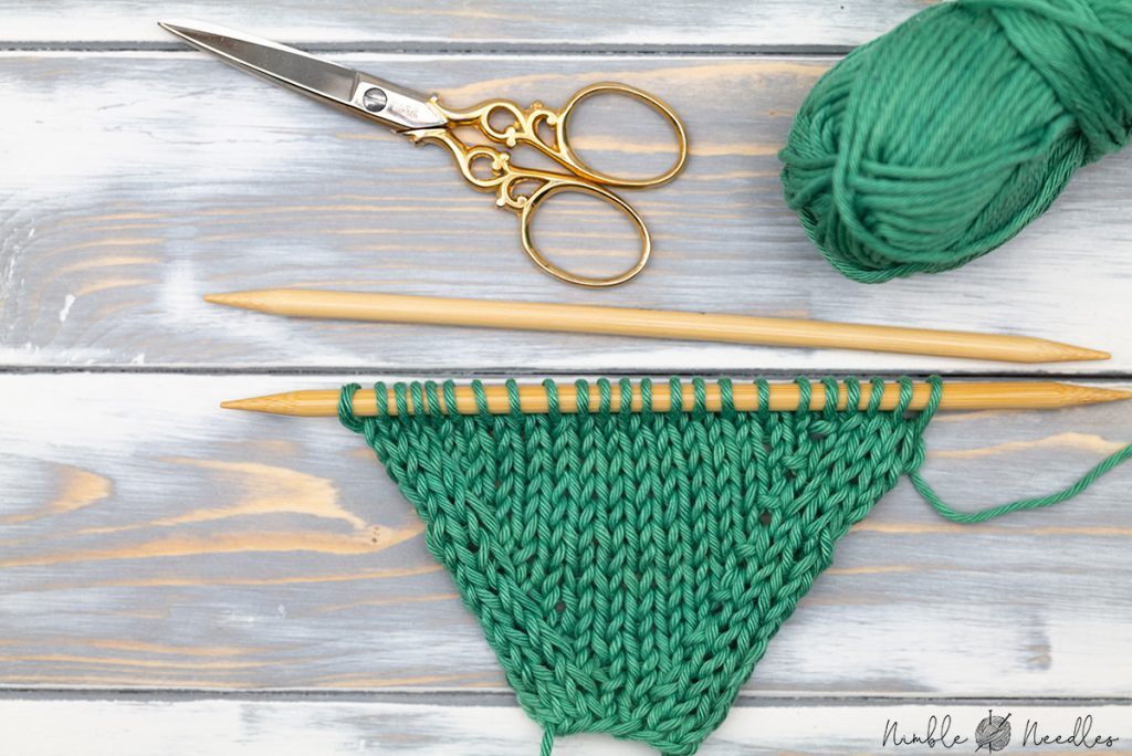 A swatch with kbf knitting increases