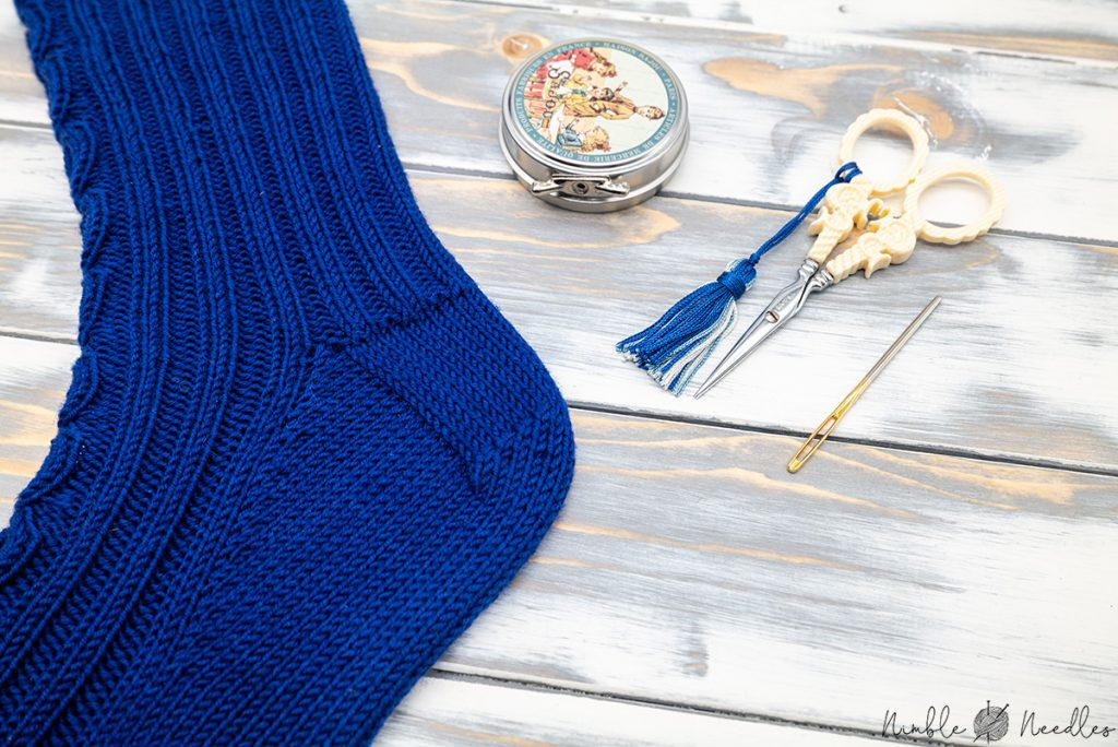 turning the heel of the sock