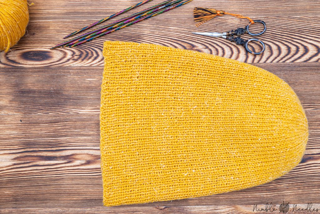 The unfolded knit beanie pattern