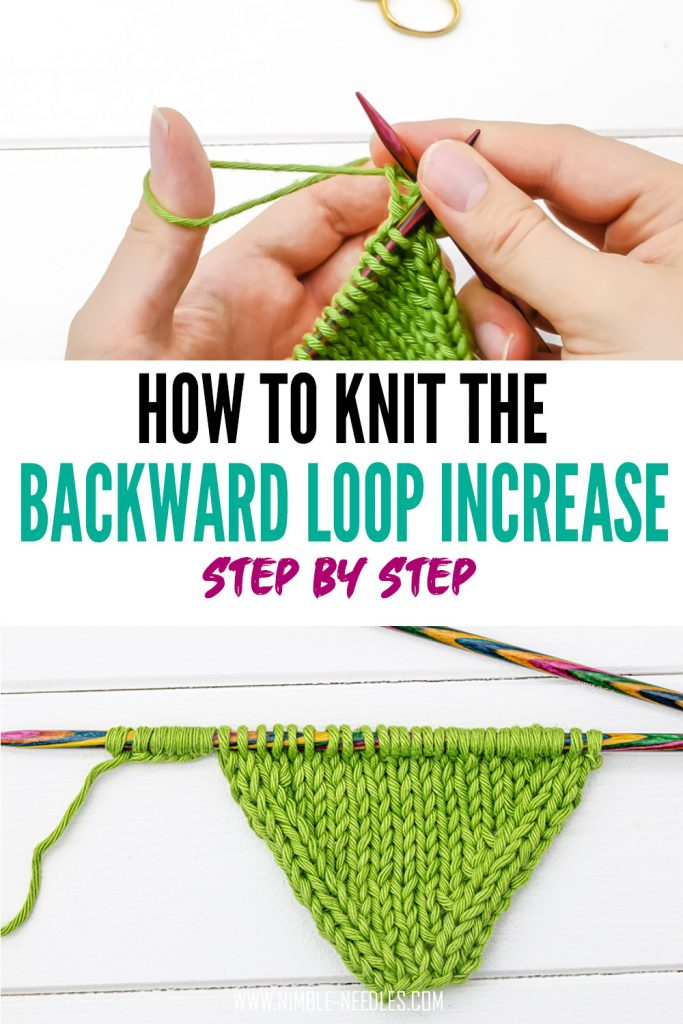 How to knit the backward loop increase