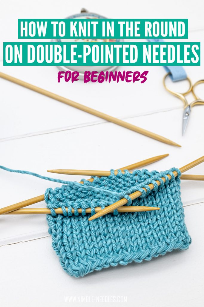 How to knit in the round with double-pointed needles
