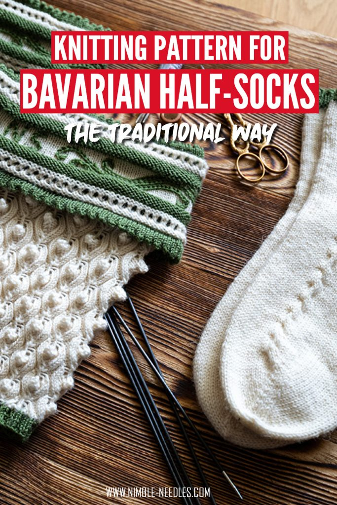 Knitting pattern for bavarian half-socks / loiferl
