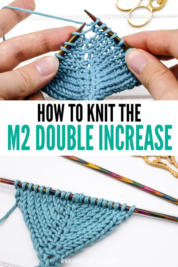 How to knit the make two double increase