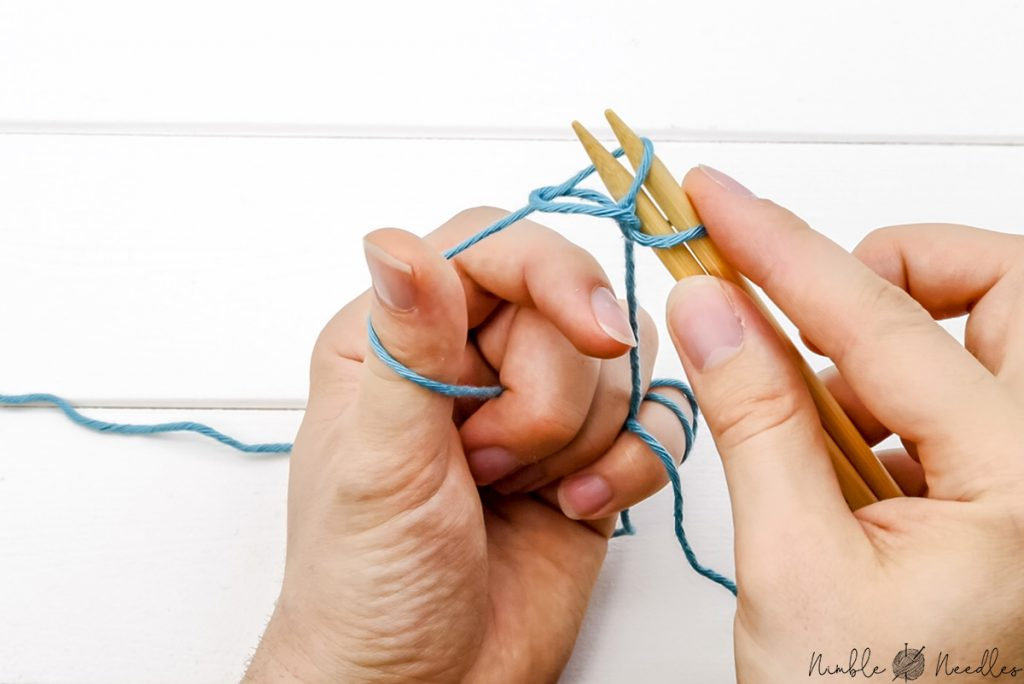 Removing the index finger and tightening up the loop