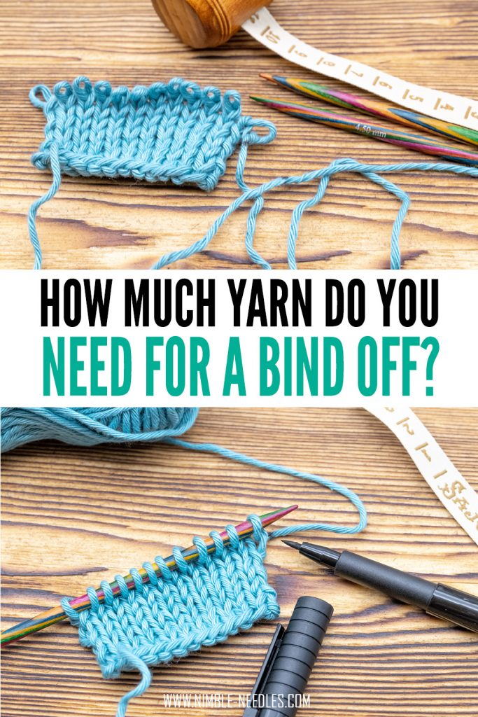 how much yarn for a bind off