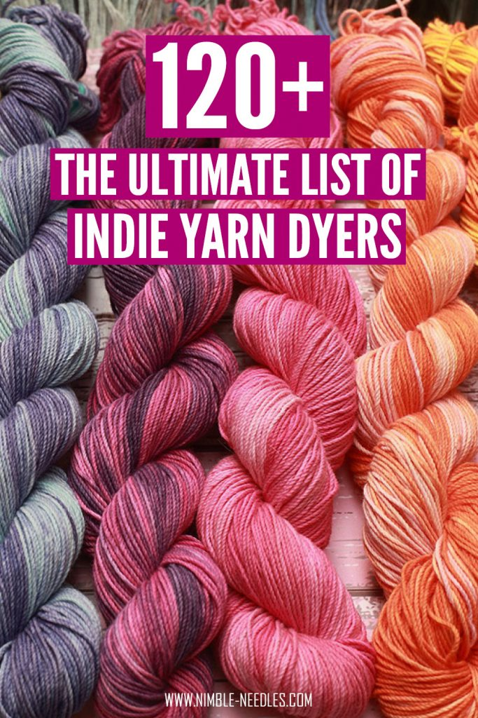 The ultimate list of indie yarn dyers