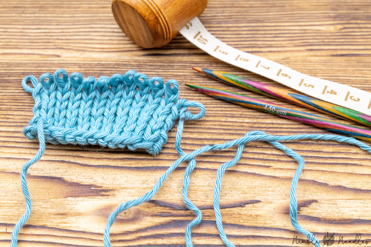 measuring a long tail bind off