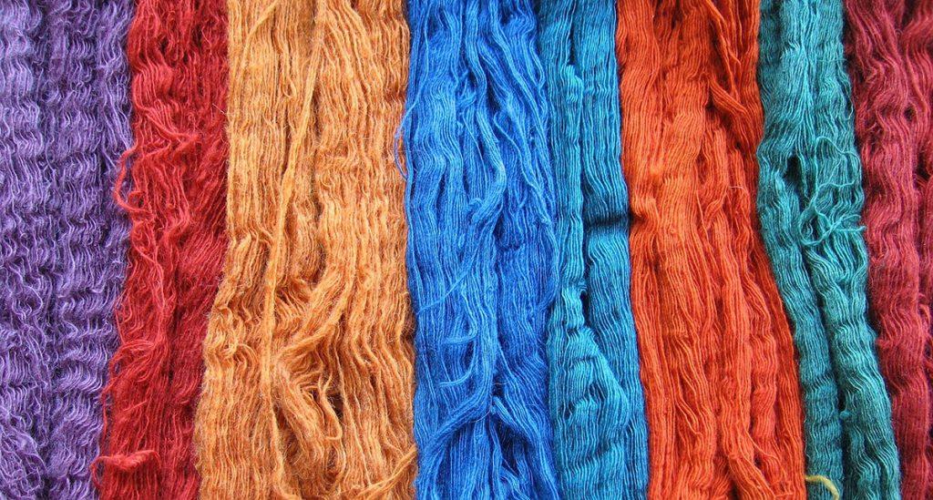 raw dyed wool