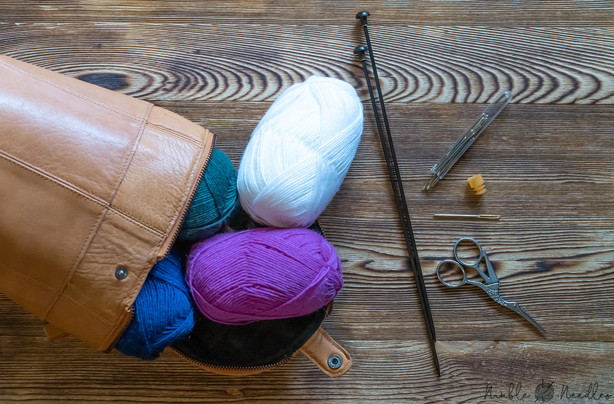 All the basic knitting supplies you need as a beginner wanting to learn this craft