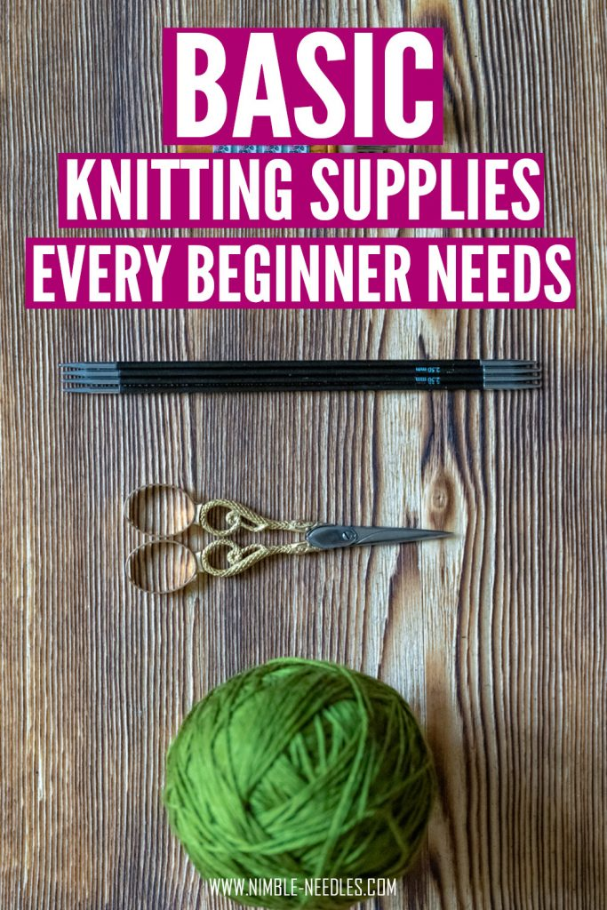 basic knitting supplies for begginers