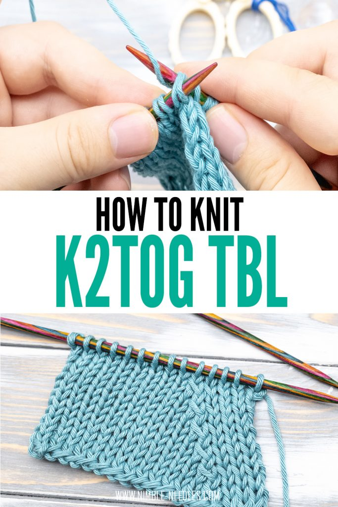 how to knit two stitches together through the back loop