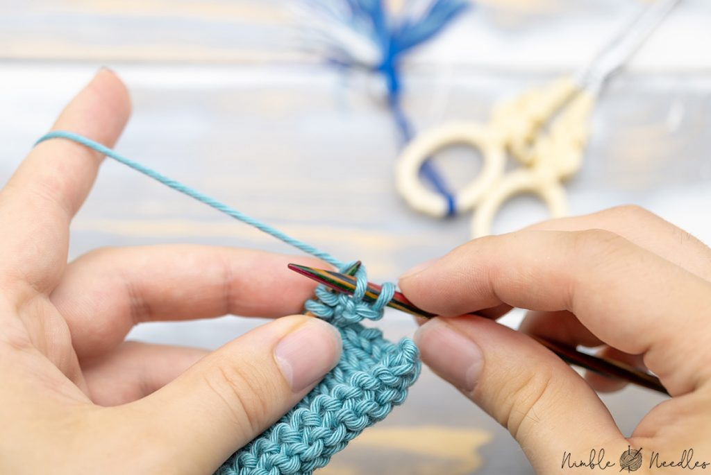 knitting two stitches as the second step of the icord bind off