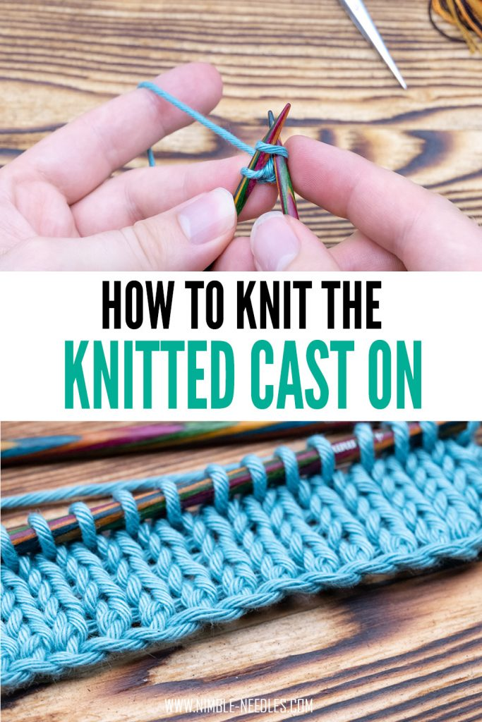 how to knit the knitted cast on