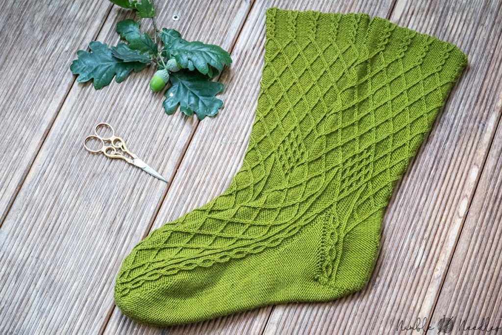 all pretty and ready to knit - my sock knitting pattern