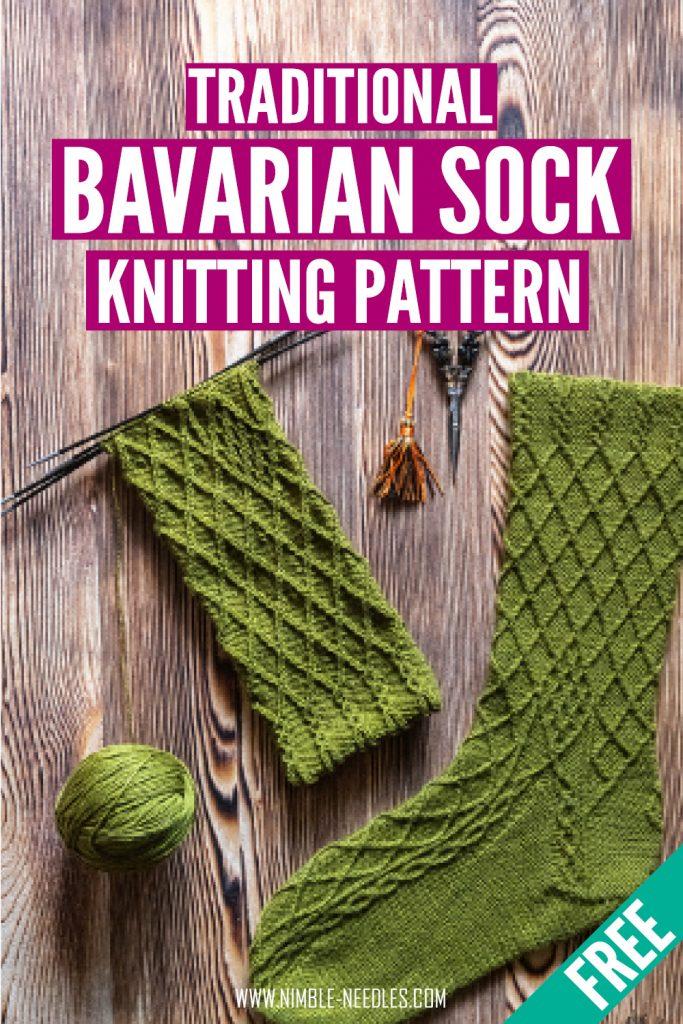 bavarian sock knitting pattern